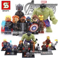 Wholesale SY271 Marvel The Avengers Age of Ultron Action Figures VS Decool Building Blocks Figures Avengers Age of Ultron Minifigure