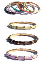Wholesale Bamboo drip bracelet restoring ancient ways bamboo bracelets bracelets coloured drawing or pattern alloy bamboo euramerican fashion br
