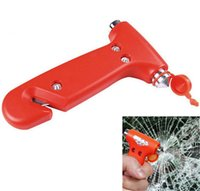 Wholesale 2 in Car Emergency Safety Escape Hammer Tool Blade Cutter Window Glass Breaker Engineering Plastics Metal