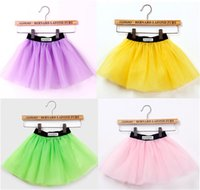 layer cake - 3 Layers Girls Tutu Skirts Kids Ballet Skirt Girl Dancing Pettiskirt Candy Colors Children Baby Cake Dresses Ball Gown