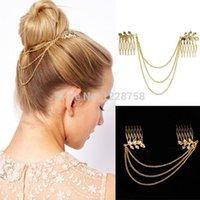Wholesale Women Fashion Metal Rhinestone Head Chain Jewelry Headband Head Piece Hair band H6556 W0