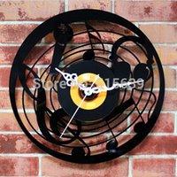 art deco music - Music CD Wall Clock Art Deco Clocks Home Decoration Vintage Time