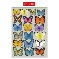 pvc manufacturers - 10pcs D stereo manufacturers colorful butterfly H1 H1 PVC waterproof decorative wall stickers have bagged