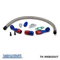 Wholesale TANSKY High performance TURBO OIL RETURN DRAIN LINE KIT FOR MOST TURBO TURBOCHARGER T3 T4 T25 TK WXB02OUT