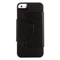 Al por mayor-ultrafino Mini Teclado Bluetooth V3.0 inalámbrico con cubierta protectora de la caja de cuero para el iPhone 5 Negro