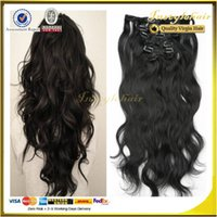 Wholesale price Indian Clip In curly Human Hair Extensions natural wavy Hair extensions Set g g hair g clip