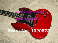 Cheap Red Newest SG Model Electric Guitar High Qulality Guitar factory Free Shipping
