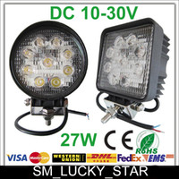 30 60 Degree 2700lm 11 27W Flood Spot Beam Offroad LED Work Light Truck Boat Camping DC 12V 24V LED Working Light Off Road Round Driving Working Lamp