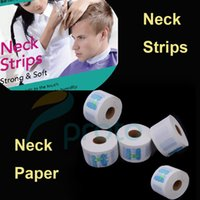 disposable dress - 5Pcs Hair dressing Hair Accessory Neck Paper Strips Disposable Covering Paper Towel Have Breakpoint Muffler Scarf Paper M0349X