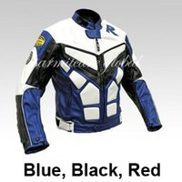 jacket racing - Men PU Leather Motorcycle Jacket Windproof Auto Leather Racing Jacket Moto Blue Black Red S M L XL XXL XXXL for Sale