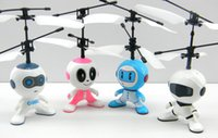 astronaut model - Infrared remote sensing aircraft new hot RC flying fly robot toy mini flyer UFO Induction Astronaut fly ball Remote Control Toys