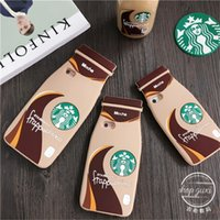 apple tea cup - iphone s case D Starbucks milk coffee cup cases cartoon silicone Starbuck mocha milky tea bottle glass cover for iphone s s s plus