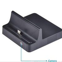 Wholesale HD x720P spy Hidden Camera Charge Dock Camera DVR phone Charging Dock SP008 HD Motion Detection Camera DVR Cam Mini Camera for Samsung