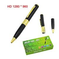 Wholesale spy pen camera spy camera pen HD DVR memory card mirco SD Card slot hot selling Hidden camera