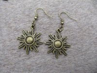 apollo jewelry - Apollo jewelry sun earrings bronze earring charm jewelry Steam punk