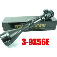 Wholesale Hot Sale x56 E Tactical Hunting Red Dot Illuminated Riflescope Airsoft Long Gun Scope Optical Gear