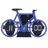antique desk set - 2015 Brand New Bicycle Flip Clock Time Adjustment Set Desk Clocks For Home Office Decor Gift Hot Selling