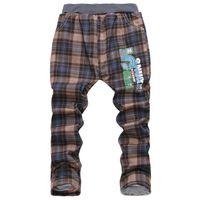 big plaid fabric - Korean red plaid fabric trousers boys big virgin thicker jeans pants trousers