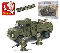 apc cars - The APC Sluban D construction eductional plastic Building Blocks Sets Military Prowl Car children toys Christmas Gifts