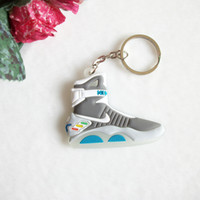 air the ring - Back To The Future II Glow in the dark air mag keychain sneaker keychain key chain key ring key holder llaveros chaveiro