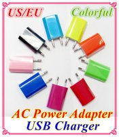 Cheap 1000mah Colorful EU US Plug USB Wall Charger AC Power Adapter Home Charger for iphone 6 6G 4 4S 5 5G 5S 5C Samsung Galaxy S3 S4 S5-DD416