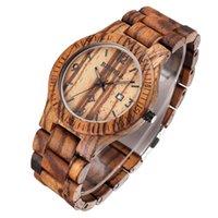analog coffee - Bewell Auto Date Coffee Maple Wooden Watches Men Luxury Brand Waterproof Shock Resistant Quartz Watch Clock Relogio masculino