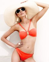 Cheap Summer Bikinis Sunny Bandeau Bikini Sexy Swimwear Suits Bikini Set comfortable fabric ties at neck 49049