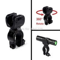 Wholesale 360 Swivel Black Bicycle Bike Mount Bracket Holder Torch Clip Clamp Universal For Bicycle LED Flashlight Free Ship