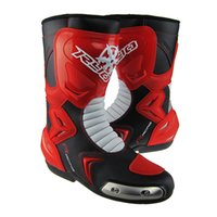 motocross boot - New Fashion Mens Long Motorbike Boots Sport Motorcycle Racing Motocross Boots Shoes off road Motorcycle Footwear Red White