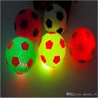 balls bouncing - 2015 NEW cm Flashing SPIKE BALL Spikey Massage Bounce Light Sound Sensory Flashing Elastic luminous led jumping football TOPB3426