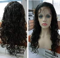 indian remy curly full lace wigs - Human hair wigs lace front full lace Indian remy big curly hair wigs natural color with baby hair natural hair line