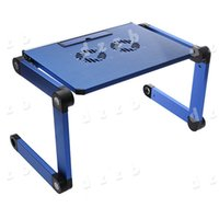 Wholesale Laptop Notebook Table Stand Desk Portable Degree Folding Foldable Adjustable with Cooling Fan Pad