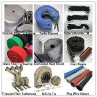 Other HWP-T-0115 1 inch titanium turbo wrap,Thermal Wrap,Exhaust heat Wrap,1''*50'(include 5 FREE 304 stainless steel zip ties) M20728