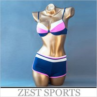 Cheap 2016 new fashion, high-grade fabrics,sports Boxer shorts bikini sets for Female women Sandy beach swimwear swimsuits