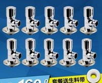 Wholesale freeshipping Eight Angle valve gate valve All copper main body heat and cold triangular valve water stop valves