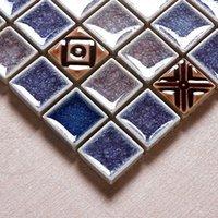 Wholesale Jasmine Binglie kiln ceramic mosaic tile puzzle backdrop television shower parquet living room entrance