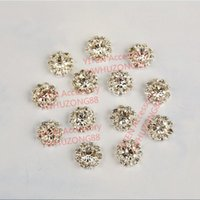 Wholesale mm round sunflower crystal rhinestone button with one hole shirt coat hat curtain garment decoration