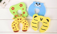 Wholesale 4 Baby Safety Guard Animal Door Stopper Finger Pinch Guard
