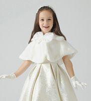 accessories poncho - 1PCS Children dress accessories princess Fur Boleros Flower shawls Children s Poncho girl cape kid clothing colors pink
