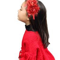 best hair glaze - 15 off colors option fashion Coloured glaze silk Christmas hair hoop children hair accessories for girls best gift drop shipping RD