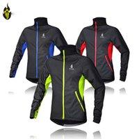 Wholesale Windproof Men Fleece Winter Cycling Jersey Thermal Bike Bicycle Jacket Clothing Casual Long Sleeve Wind Coat M XL WG293
