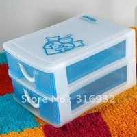 Wholesale F1 Multi function two layer mini plastic drawer for storage