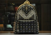 mcm bag - cheap MCM Bags High Quality MCM Backpacks Rivet Style bags color can do drop shipping