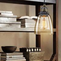 art house america - E27 Incandescent LED Bulbs Rural America Brief Country Loft Lamps Beat House Bar Pendant Chrome Plated Glass Retro Lamp Light order lt no t