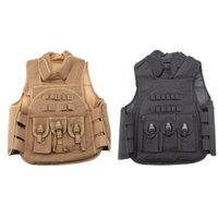 assault vest - CS Paintball Men Nylon Tactical Vest Hunting Combat Assault Vest Outdoor Training Waistcoat Y0614