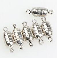 achat en gros de aimants pour fermoirs bijoux-Hot 50sets / lot Argent / Or Plaqué 18 * 6MM Fermoirs aimant magnétique puissant collier pour Bijoux Collier Bricolage