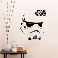 bathroom fan switch - FreeDHL Star Wars Stromtrooper Wall Stickers with Star Wars Character Letters wall decal fans home decoration Removable gift E275L