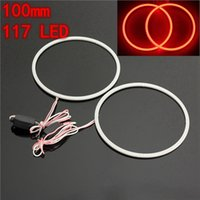 Wholesale New Pair Red mm LED COB Chip SMD Light Angel Eye Halo Ring Lamp For BMW order lt no tracking
