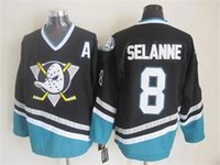 Wholesale Hot selling New Anaheim Ducks Teemu Selanne Jersey black Ice Hockey Jerseys lymmia jerseys