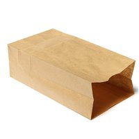 bakery bags wholesale - 50pcs Brown Kraft Paper Bags Recyclable Bakery packaging bags cookies bags food packaging Paper bread bags x10x30cm x11x32cm